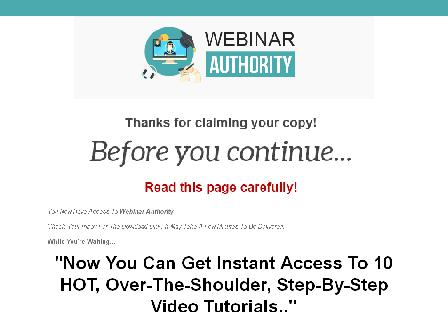 Webinar Authority Video Course review