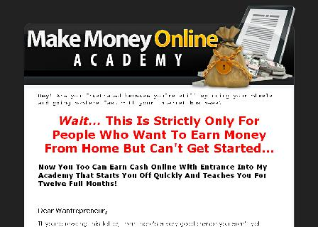 Make Money Online Academy review