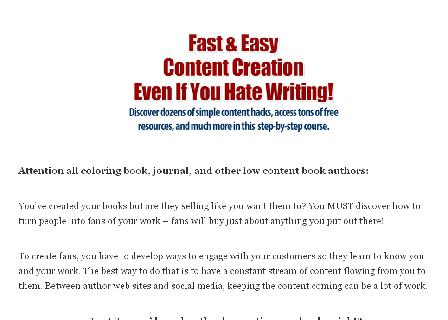 Fast and Easy Content Creation Course review