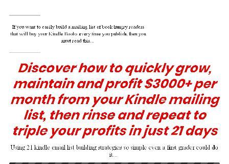 Kindle Shoutout Profits review