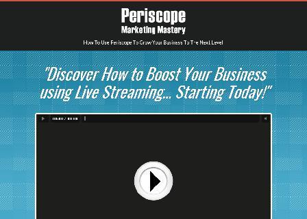 [FULL PLR] Periscope Marketing Mastery review