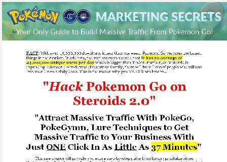 [MRR] Pokemon Go Marketing 2.0 review
