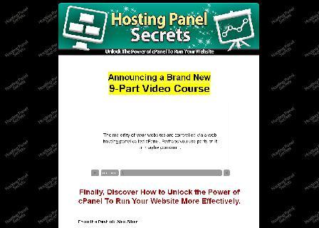 Hosting Panel Secrets - Video Course review