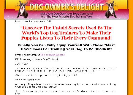 dog owners book obedience training review