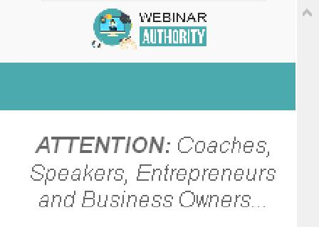 Webinar Authority review