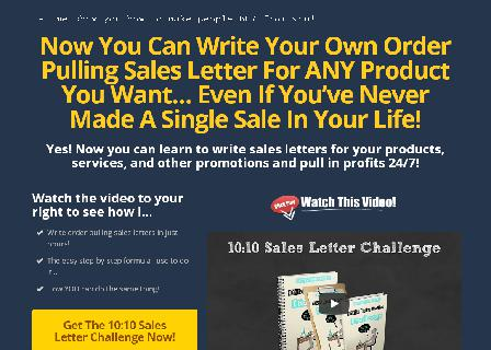 10:10 Sales Letter Challenge Special review