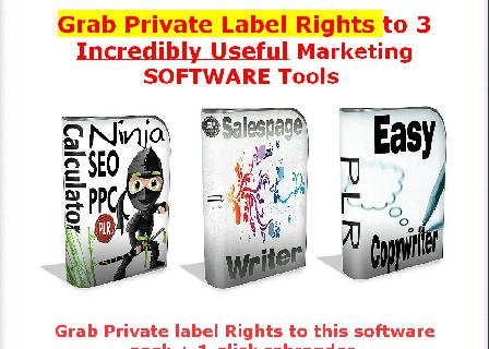 [PLR] 3 Incredible-Useful Marketing Software Tools review