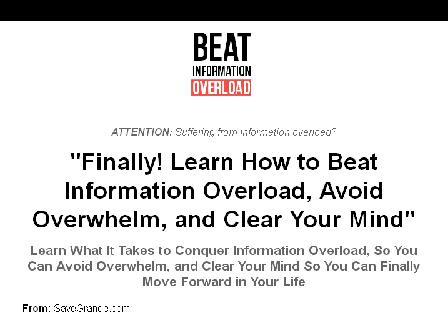 Beat Information Overload review