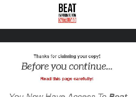 Beat Information Overload Advanced review