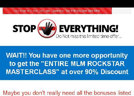 MLM Rockstar Masterclass- Downsell review