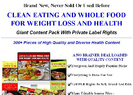 [New Quality] Clean Eating and Whole Food For Weight Loss And Health review