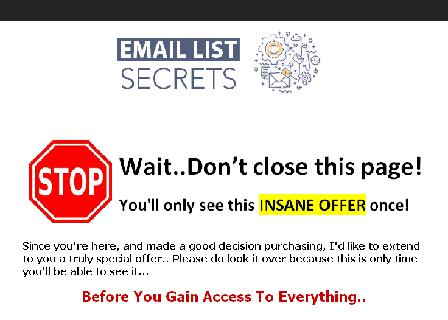 Email List Secrets Master Resell Rights review