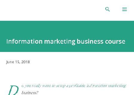 Supper information marketing business  course review