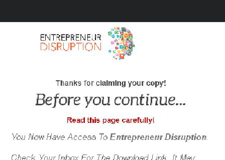 Entrepreneur Disruption Videos review