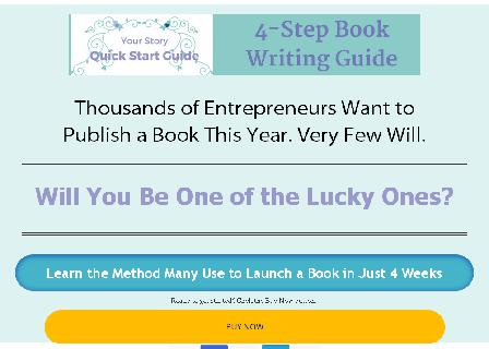 Your Story Quick Start Book Writing Guide review