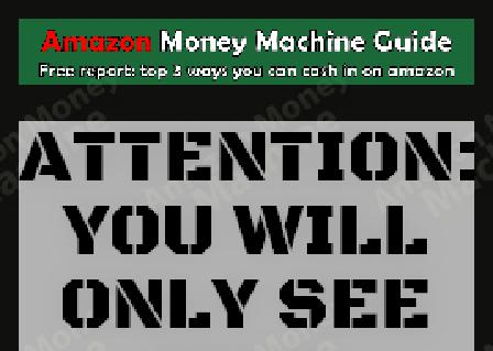 Amazon Money Machine Guide review