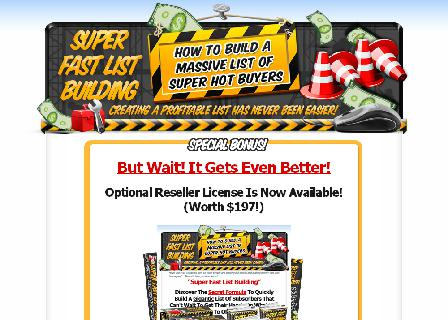 Super Fast List Masters Licence Reseller Rights review