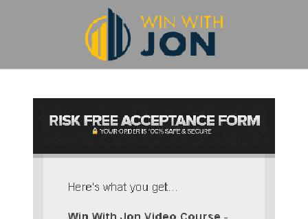 Win With Jon - Webinar Special review