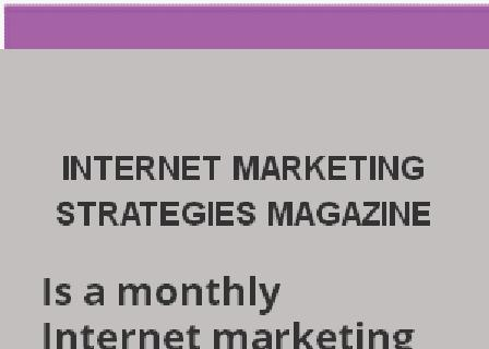 INTERNET MARKETING MAGAZINE MONTHLY review