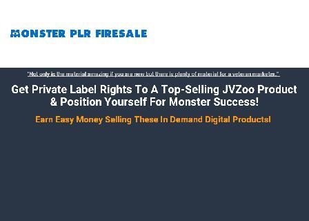 Monster PLR Firesale review