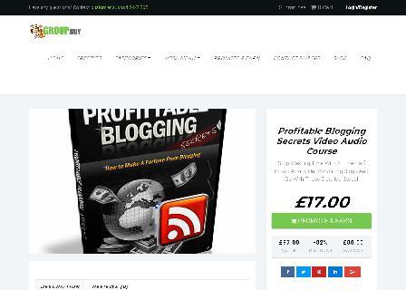 Profitable Blogging Secrets Video Audio Course review