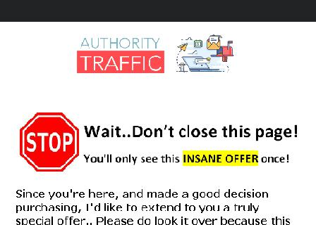 Authority Traffic Master Resell Rights review