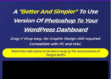 DesignLikePro-Simpler Version Of Photoshop To Your WordPress Dashboard review