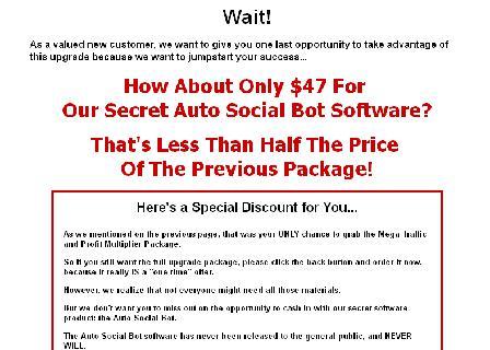 Secret Auto Social Bot Software Upgrade review