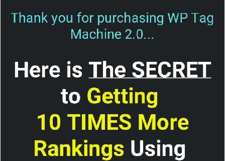 WP Tag Machine PRO 2.0 - Single Site review