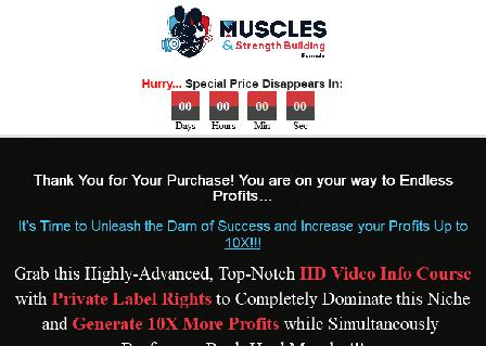 Muscles and Strength Building Upsell Pack With PLR review