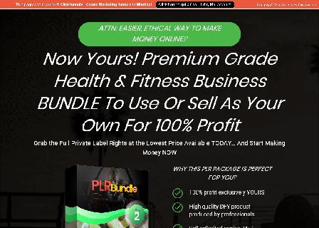 PLR Bundle Deals V2 Health Products review