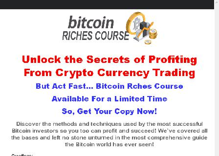 Bitcoin Riches Course review