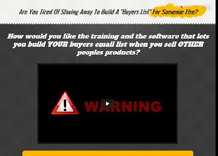 Build your buyers list promoting other peoples