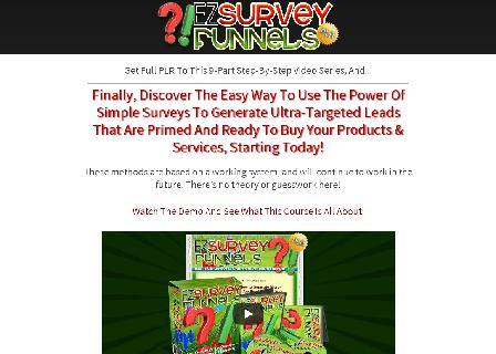 EZ Survey Funnels - PLR Videos review