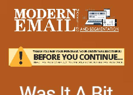 Modern Email Marketing And Segmentation Discount review