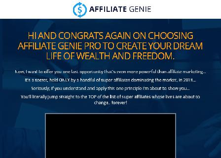 Affiliate Genie Resell Rights review