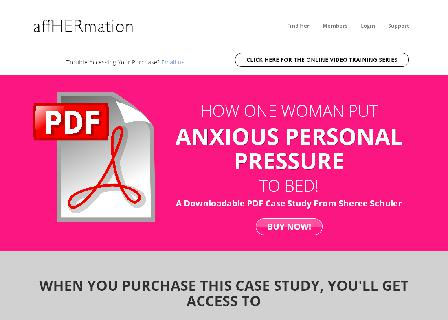 How One Woman Put Anxious Personal Pressure To Bed | A Case Study By Sheree Schuler | AffHermation review
