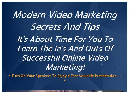 Modern Video Marketing Secrets And Tips review