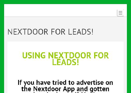 Using Nextdoor For Leads review