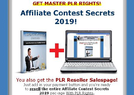 [PLR] Affiliate Contest Secrets 2019 review