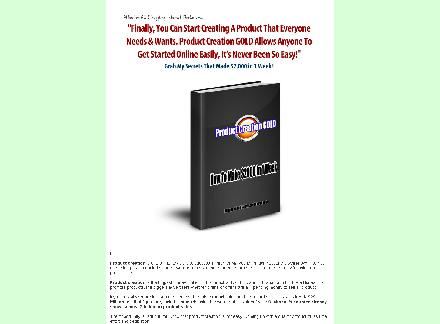 Product Creation GOLD MRR review