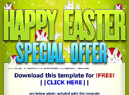 Happy Easter Web Template - PLR Licence review