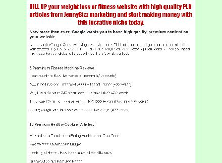 Mega Weight Loss PLR Article Pack review