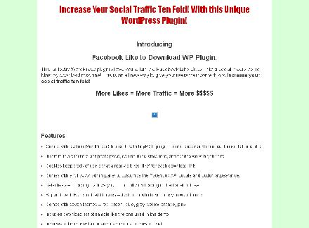 Facebook Like to Download - WordPress Plugin review
