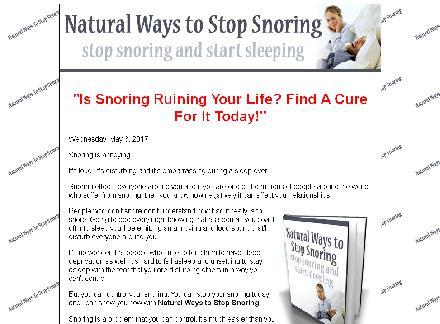 Natural Ways To Stop Snoring review
