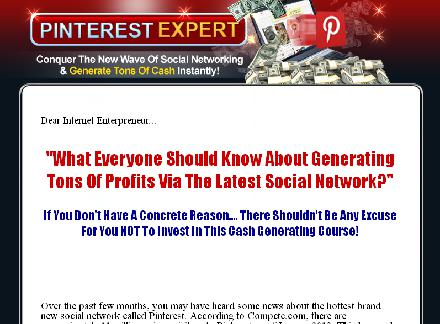Pinterest expert -Generate ton of cash instanty! review