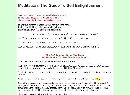 Meditation:  The Guide To Self Enlightenment review