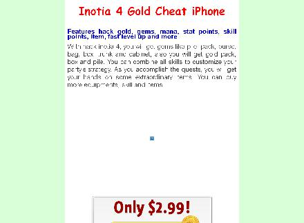 Inotia 4 Gold Cheat iPhone review