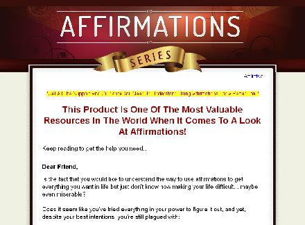 Affirmations Video Course review