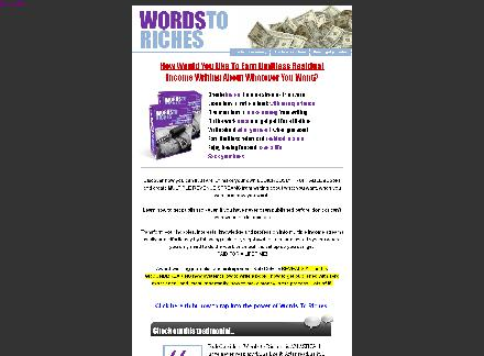 Words To Riches review